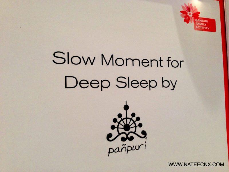 Sansiri Workshop | Slow Moment for Deep Sleep by Panpuri