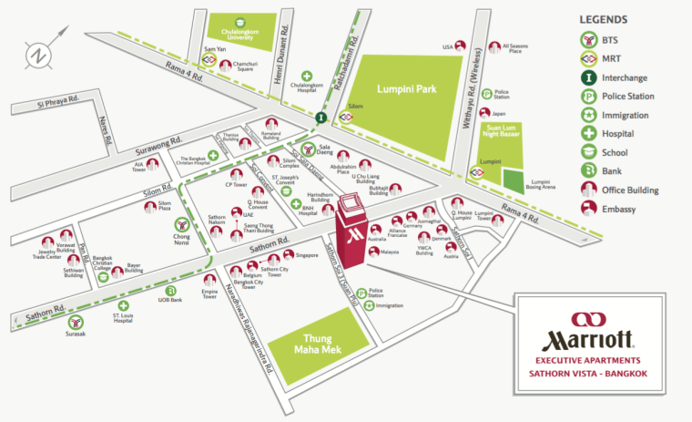 MoMo Café Map - Marriott Sathorn Vista