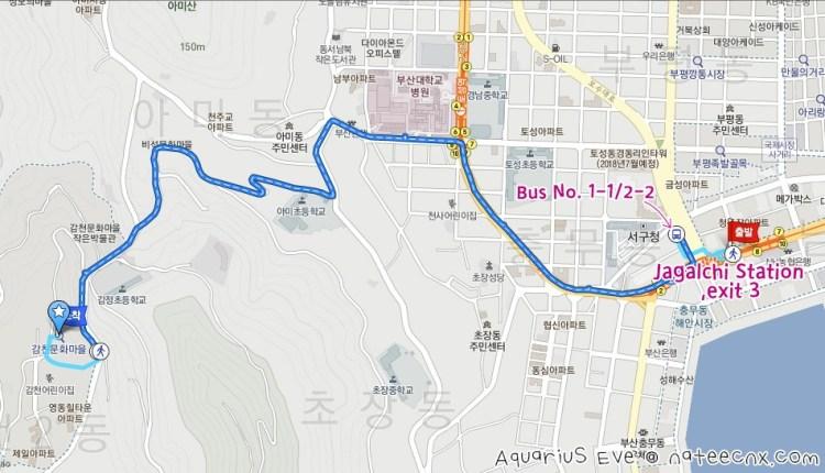 부산 감천문화마을 | Busan Gamcheon Culture Village Map