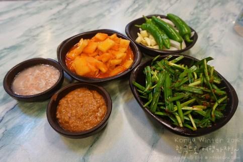 Kimchi and Banchan at Wang Dwaeji Gukbap, Busan