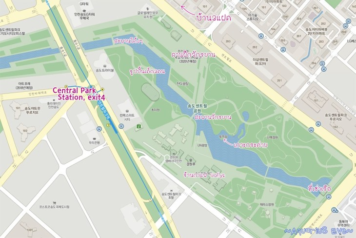 Songdo Central Park Map