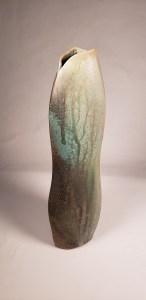 Green ash glazed vase