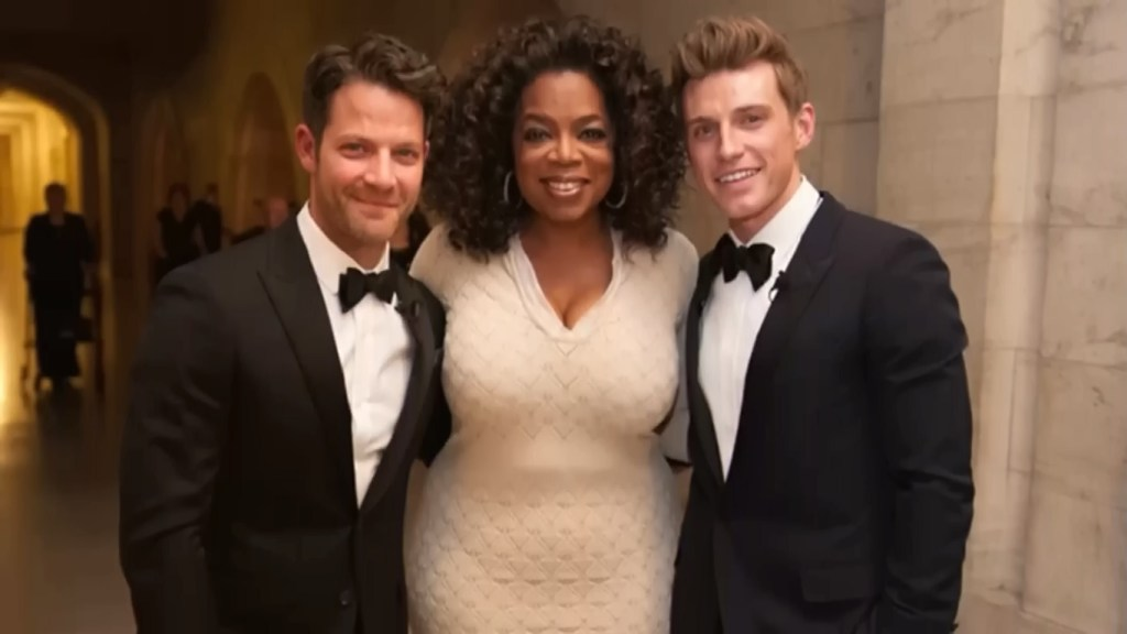 Nate and Jeremiah Wedding Oprah Picture
