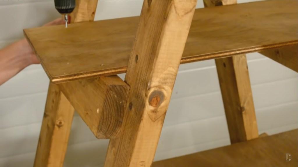 ladder shelf drill