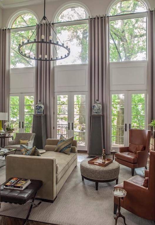 arched window treatments photo