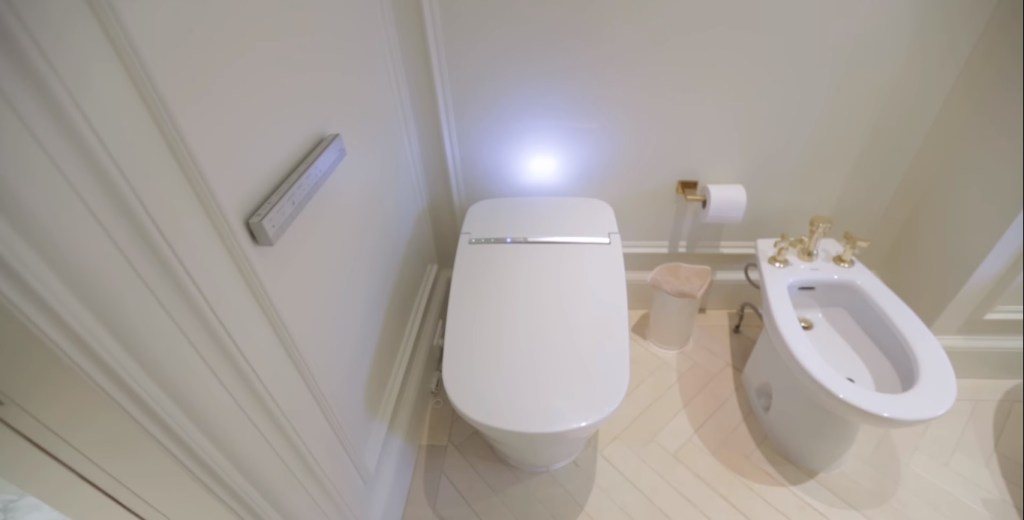 luxury bathroom toilet