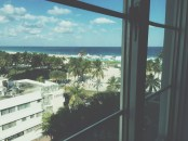 Our view from the Hotel Victor, South Beach Miami