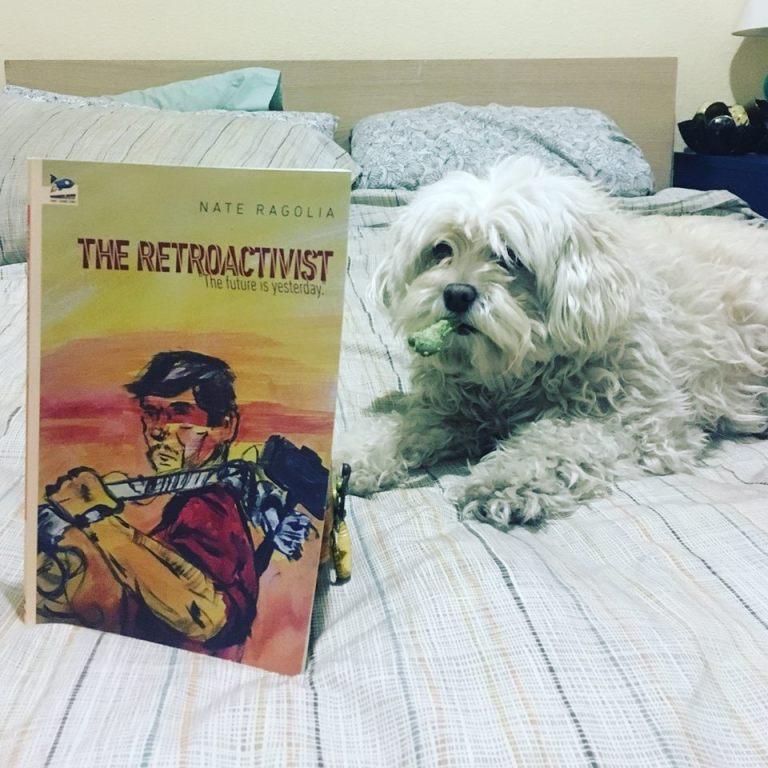 Toby reading The Retroactivist