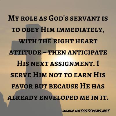 Serving God versus Being God's Servant