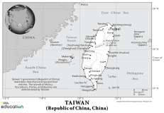 Customize and download your own map of Taiwan with our 1-Page MapMaker tool.
