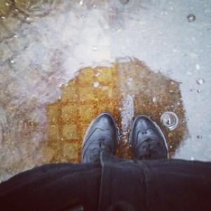 Un día loco de lluvia en diciembre