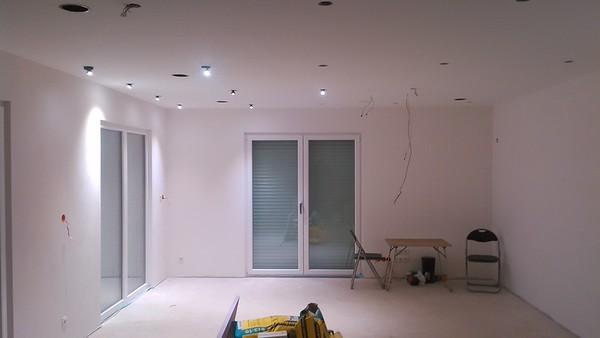 Licht im Wohnzimmer.