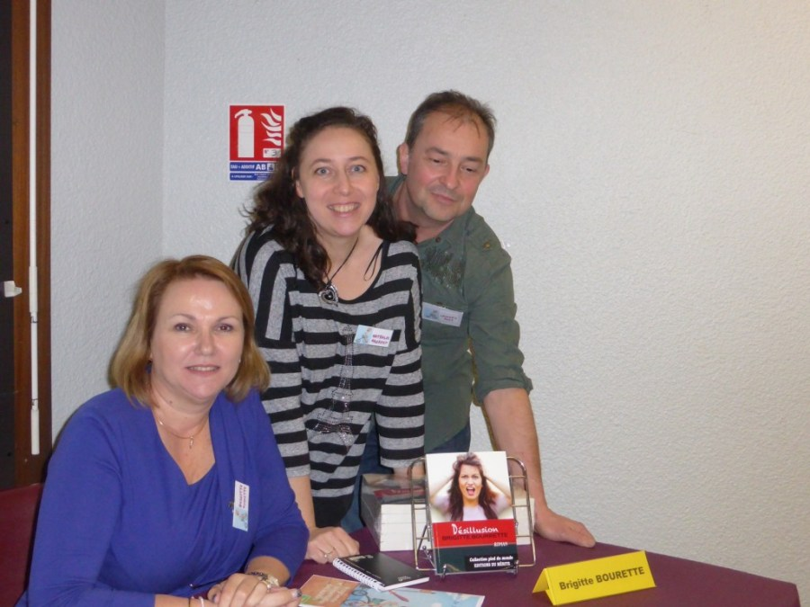 salon livre Rives 2015 - avec Laurent et Brigitte minimized