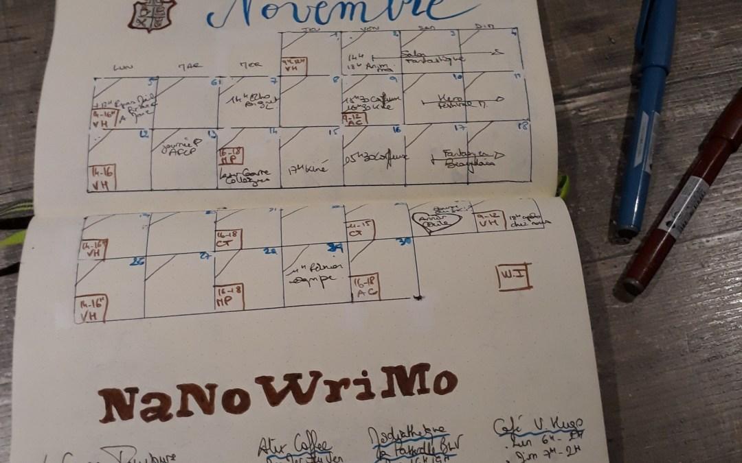 Le NaNoWriMo 2018, c'est parti ! :)