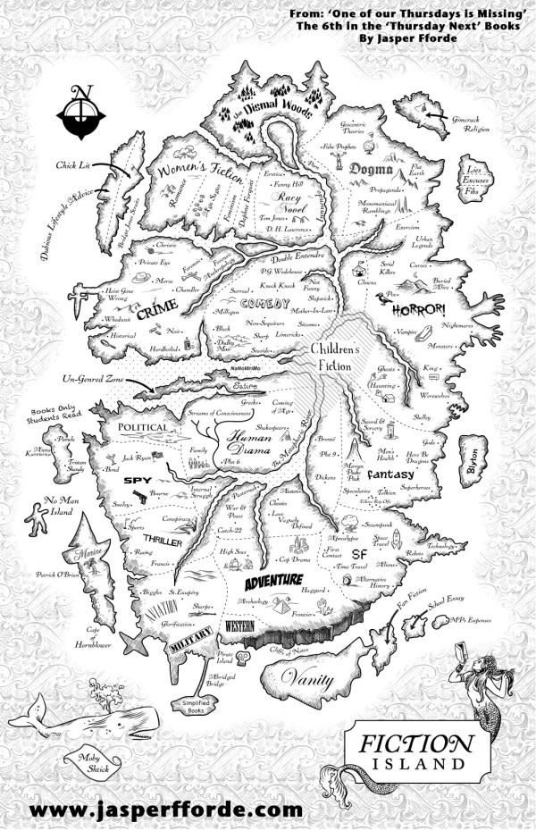 Réenchanter le monde - carte de Jasper Fforde