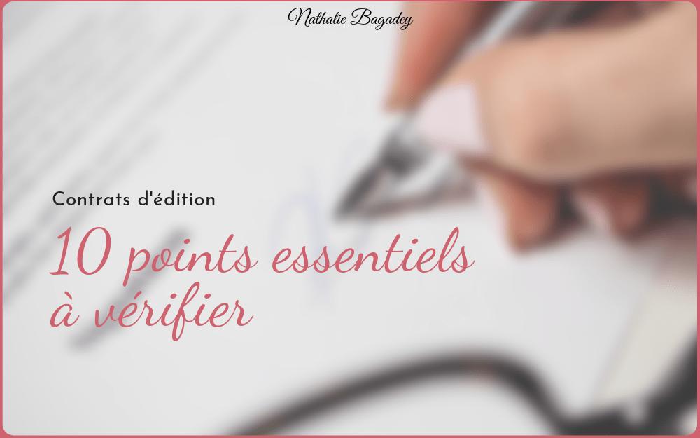 Contrats D Edition Dix Points Essentiels A Verifier