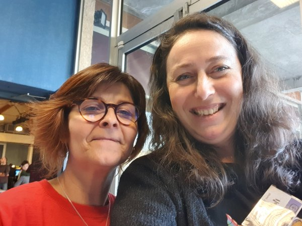 Nathalie Bagadey et Sandrine, lectrice de Citara