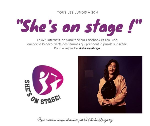 "Affiche ""She's On Stage!"""
