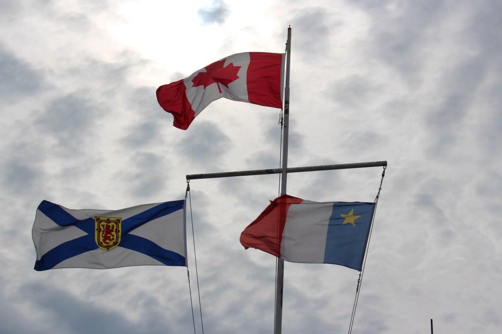 drapeaux de nova scotia canada et acadie