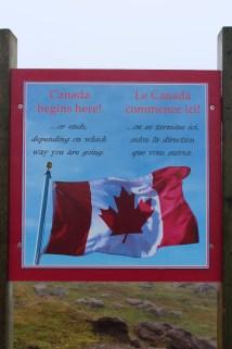 Nous sommes au début...ou à la fin du Canada