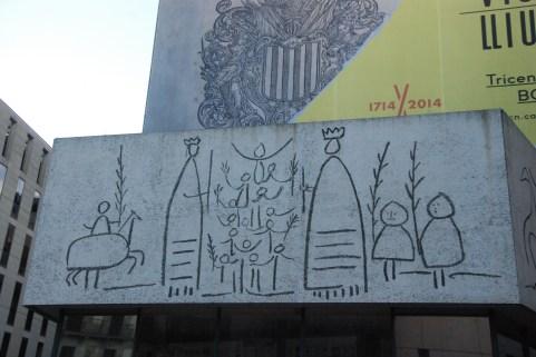 Fresque dans le Barri Gotic