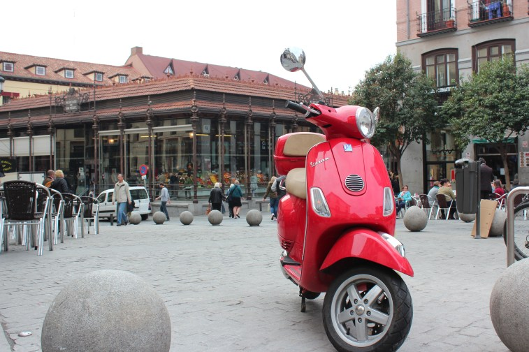 Mercado San Miguel au fond, marché couvert