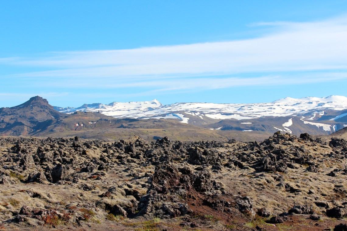 au bout de la péninsule de Snæfellsnes, toujours des champs de lave recouverts de lichen