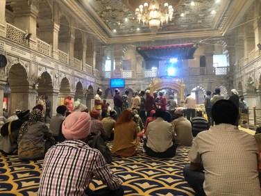 Visite du temple Sikh de Delhi..