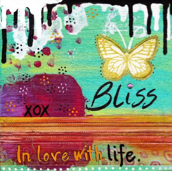 """In Love with Life 8"""" X 8"""" $175.00"""