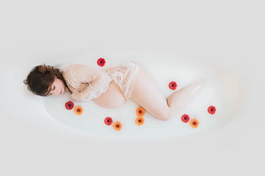 Grossesse Bain de Lait Fleur photo