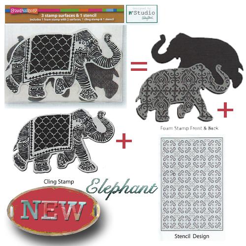 Elephant Foam Stamp Set