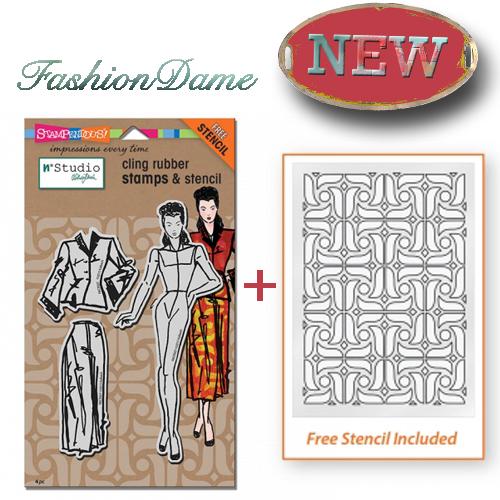 Fashion Dame Stamp Set