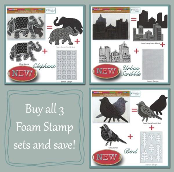 Foam Stamp Set Trio