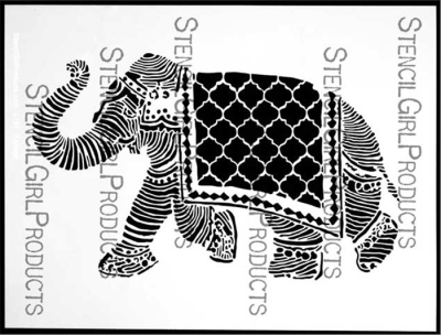 Elephant March Stencil