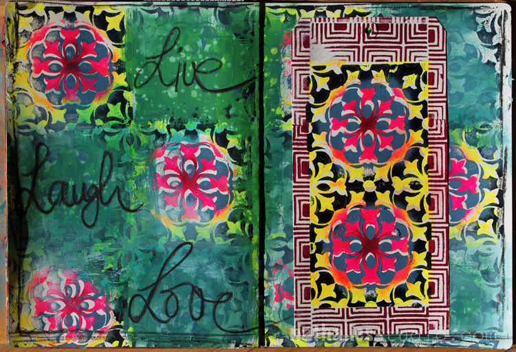 Live, Laugh, Love – Art Journal Pattern Play
