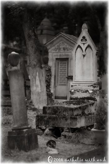 Dilapidated tombs