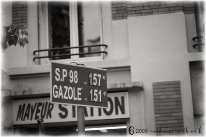 Gas prices in Paris