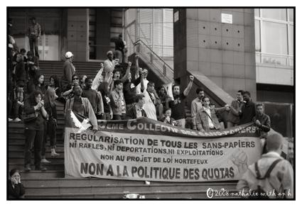 Sans-papiers protest
