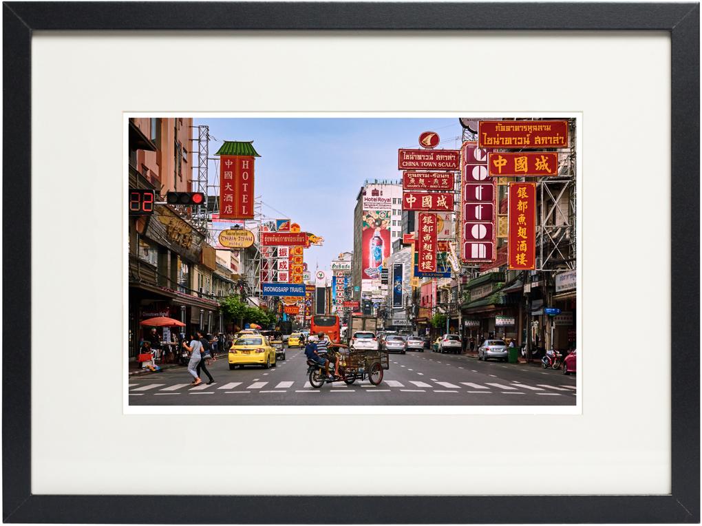 Photo of fine art print Yaowarat Road China Town on display.