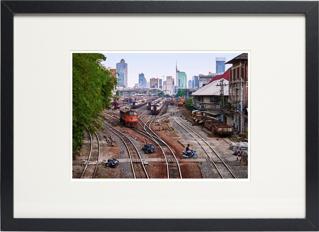 Photo of fine art print , Hua Lampong Train Station on display.
