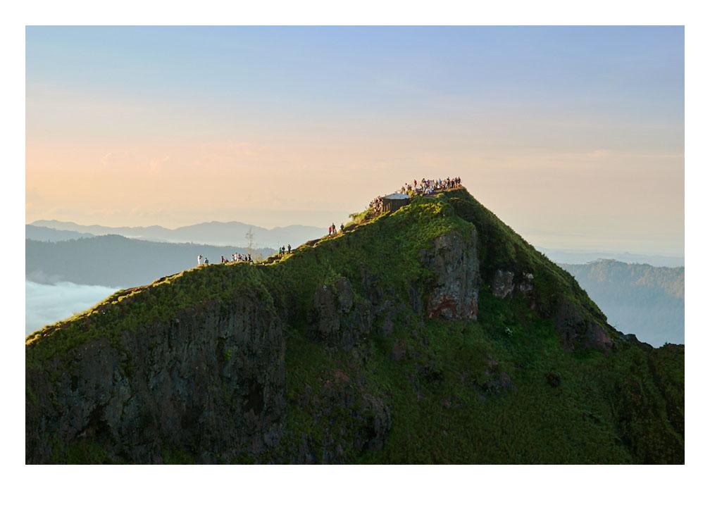 Hikers on Mount Batur Bali Fine Art Print