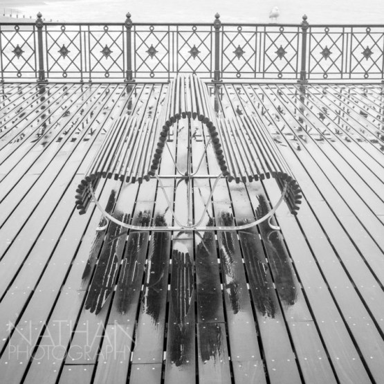 Hastings Pier Bench by Nathan Thomas Jones