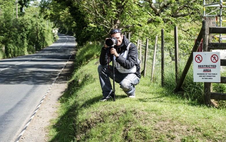 Me taking photos on the Isle of Man TT course