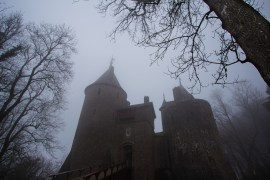 Castell Coch shrouded in mist on my first visit