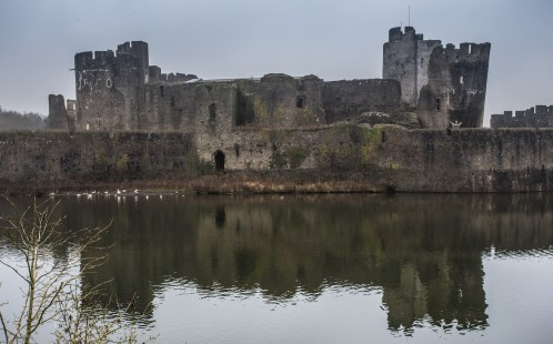 Caerphilly Castle reflections
