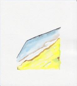 Falling, h. 15 x w. 13.8cm, Watercolour & Ink