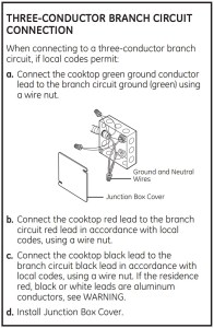 GE Cafe Induction Wiring Directions