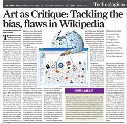 Sunday Guardian:  Art as Critique: Tackling the bias, flaws in Wikipedia