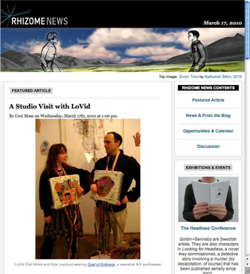 Rhizome News banner feature