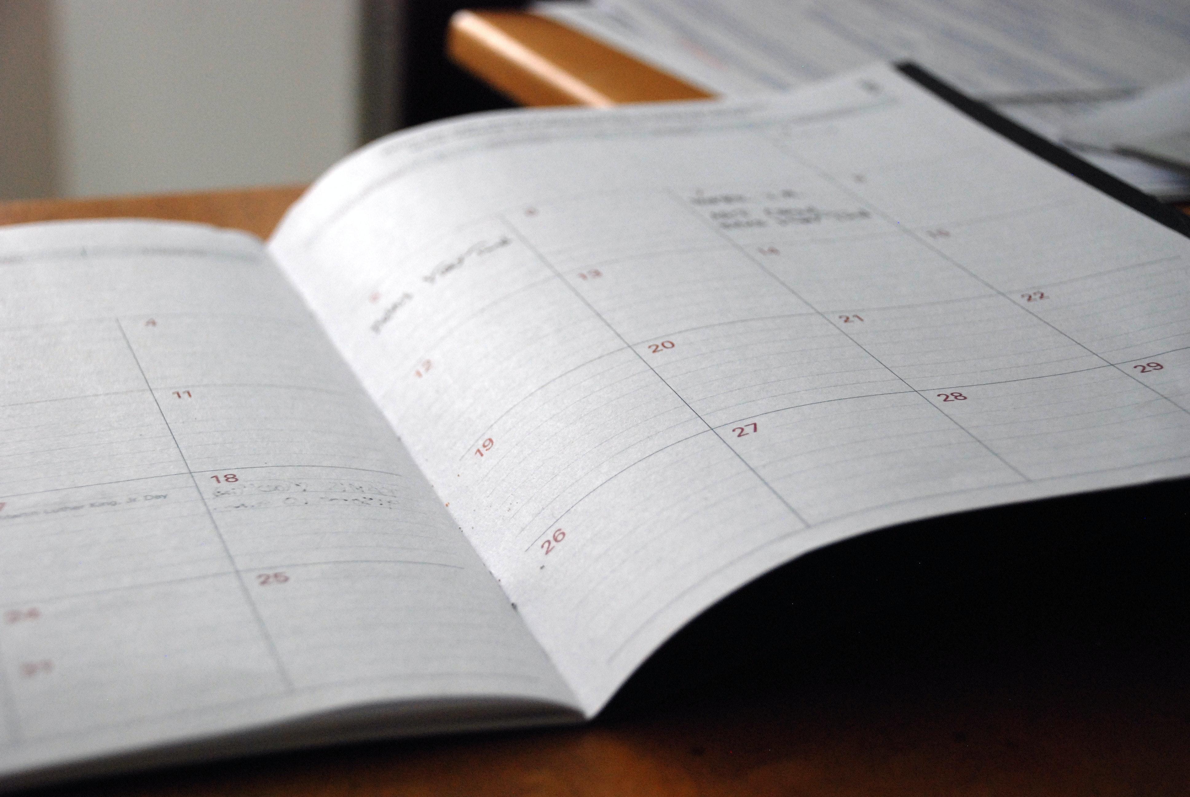 Seven Tips To Help Keep Your Calendar Sacred.